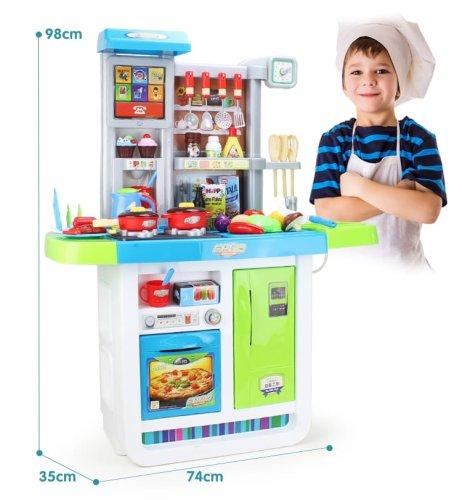 Duża Kuchnia Dla Dzieci 50 El Lodówka Piekarnik Garnki Zabawki Dla Dzieci Dziewczynki Chłopca Kuchenka Zabawkowa Dziecieca
