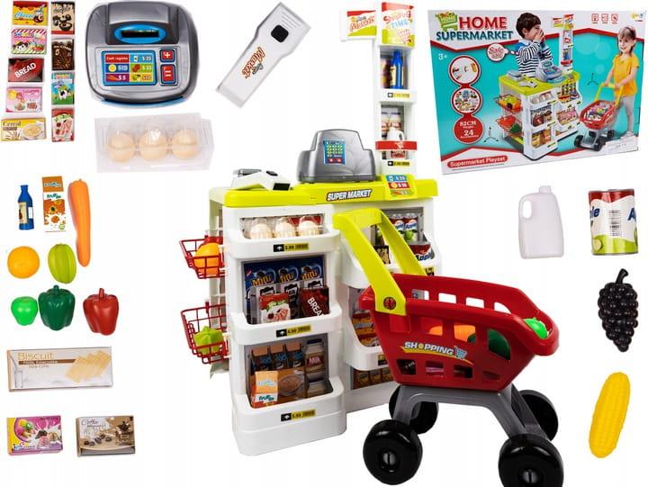Sklep Dla Dzieci Zabawkowy Supermarket Market Wozek Na Zakupy Zabawki Dla Dziewczynek Chlopca Kasa Fiskalna Dla Dzieci Waga Zabawki Dla 2 Latka Dla 3 Latka 32 Elementy Sklepik Stragan Zabawa W Sklep